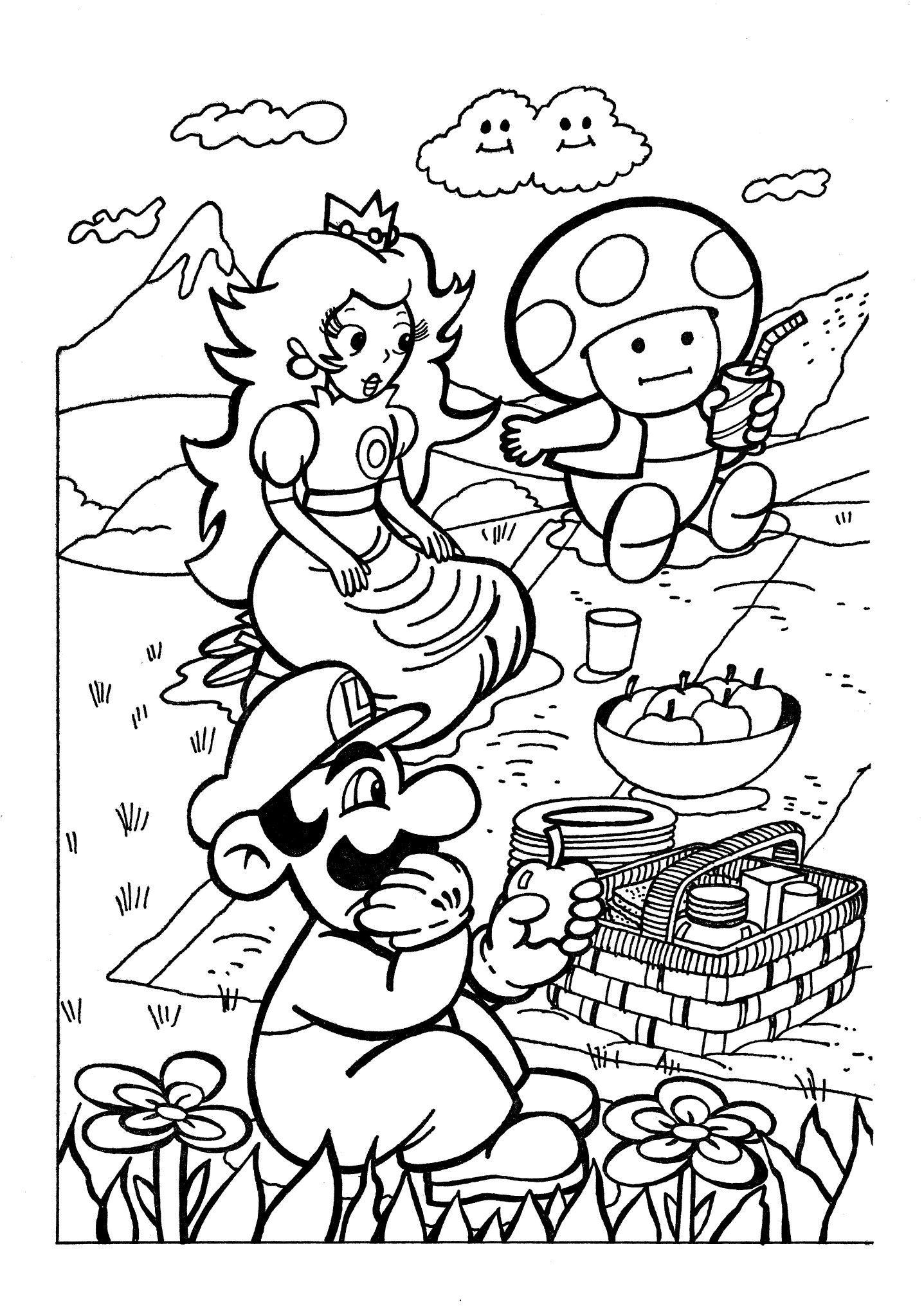 Super Mario Bros 2 Coloring Book Pg1 Posted Vgart Tidbits Coloring Books Mario Bros Super Mario Bros