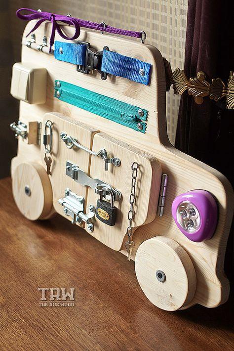 Busy-Brett, Holzspielzeug, Activity Board, Sensor-Brett, Montessori pädagogisches Spielzeug, Spielzeug aus Holz, Feinmotorik für Kleinkinder und Babys an Bord ABOUABOUT BESCHÄFTIGT BOARDS Die busy-Brett ist ein großes Entwicklungs-Werkzeug und eine ansprechende Spaß Spielzeug für Kinder im #toysforbabies
