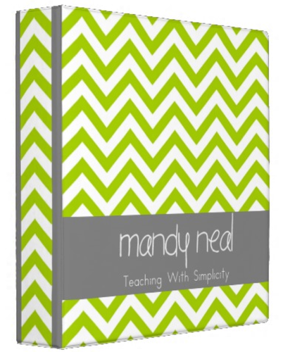 "Lime Green Chevron Avery Signature 1.5"" Binder (from Mandy"