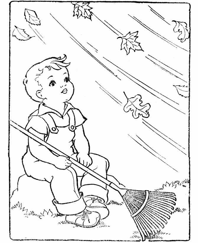 Dia de viento - Dibujalia - Dibujos para colorear - Estaciones del ...