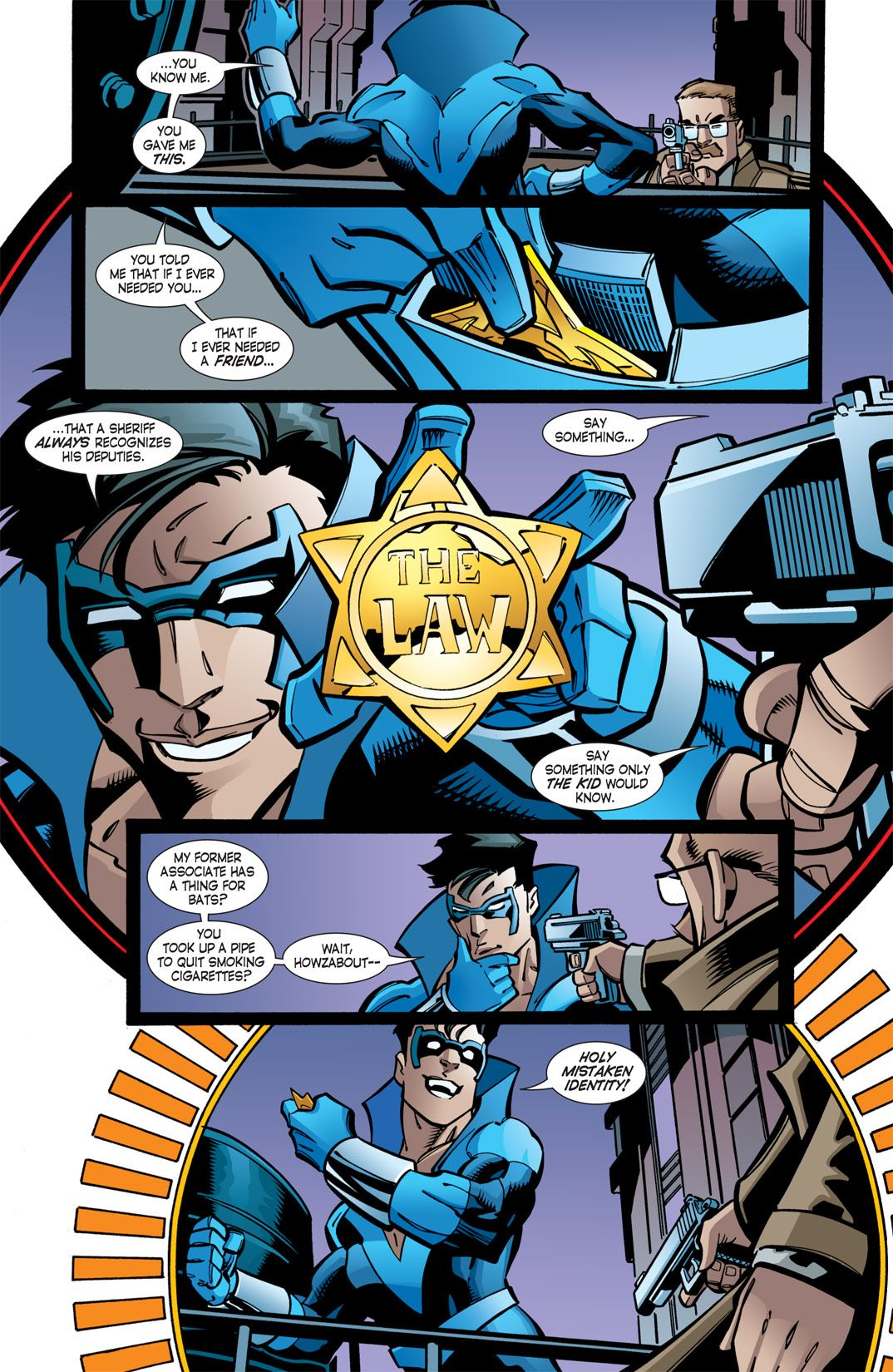 Nightwing Year 1 Holy Mistaken Identity That Line Is Wonderfuleven With The Terrible Costume
