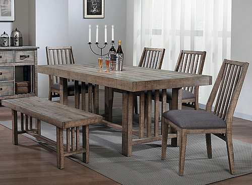 21+ Dining table with padded bench and chairs Best