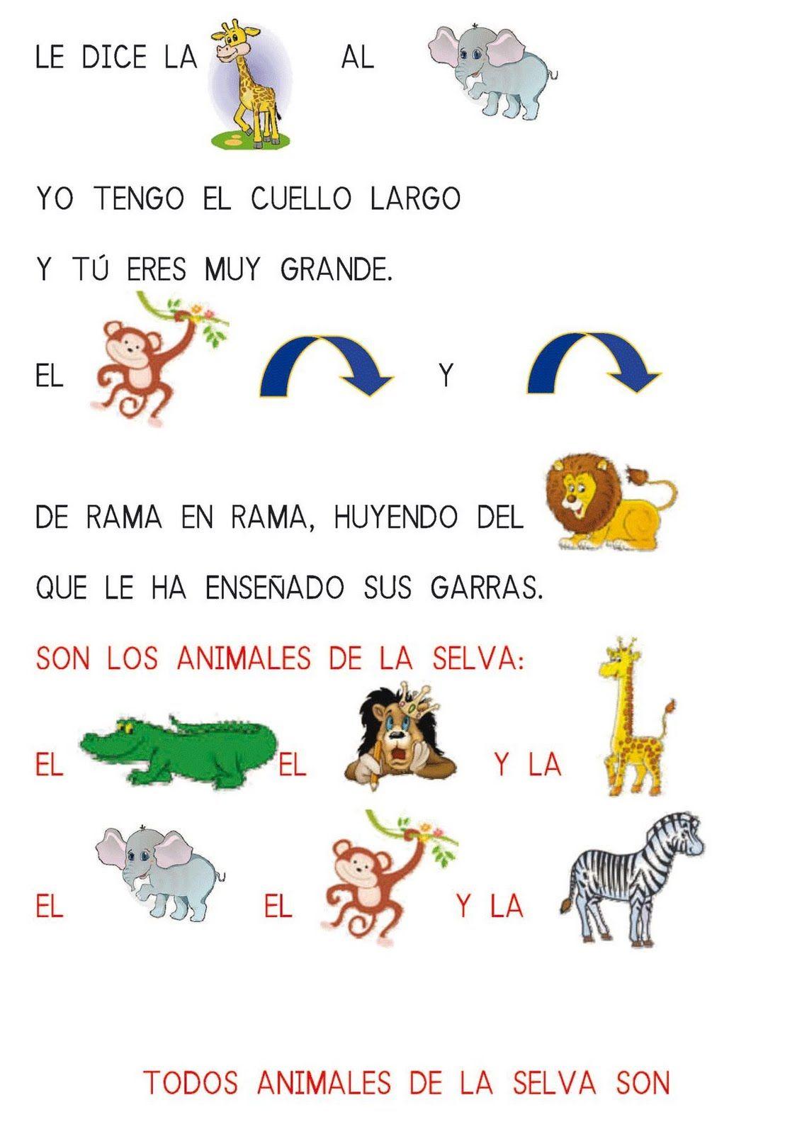 Adivinanzas Canciones Y Poesías Con Pictogramas Cuentos Infantiles De Animales Lectura Cortas Para Niños Adivinanzas Para Niños