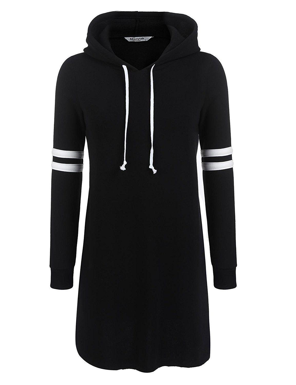 Women S Clothing Hoodies Sweatshirts Women S Long Sleeve Knee Length Slim Sweatshirt Causal Hoodie Dress Black C1 Hoodie Dress Long Hoodie Dress Fashion [ 1500 x 1154 Pixel ]