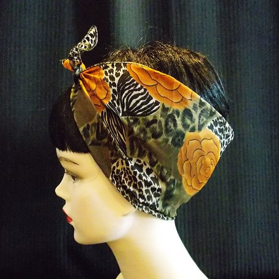 Leopard Rose Rockabilly 50's Style Hair n' Neck by VivaDulceMarina, $9.00