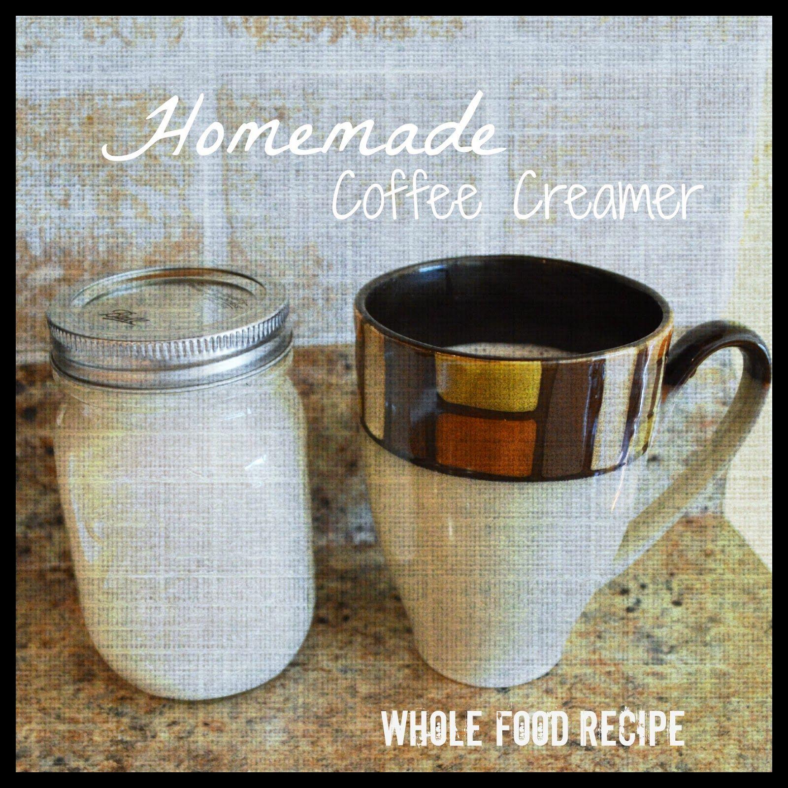 Homemade coffee creamer whole food recipe paleo
