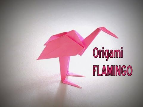 Origami How To Make A Flamingo Youtube For The Grandkids