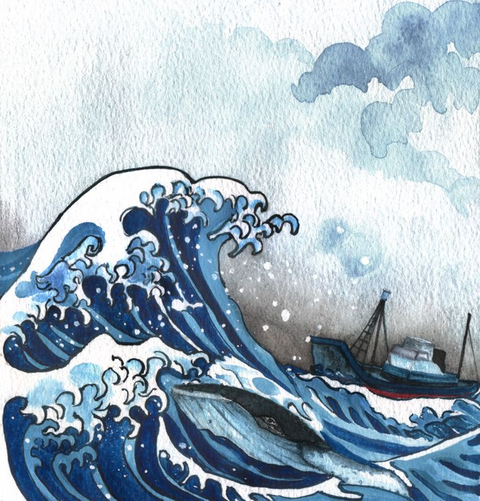 Wave bottom japan