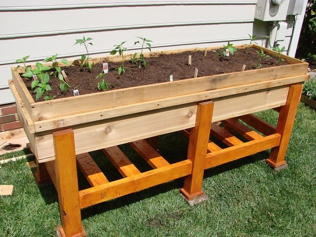 Waist High Planter Box Diy Raised Garden Above Ground Garden