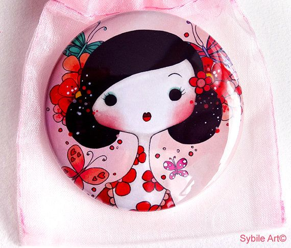 Pocket Mirror Haru by Sybile on Etsy