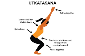 utkatasana  yoga for beginners relaxing yoga yoga images