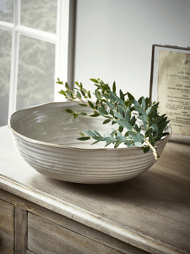 Crafted From Fine Ceramic With A Rustic White Glazed Finish And