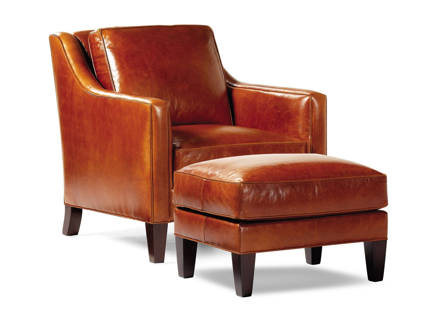 Donovan Chair & Ottoman by Hancock and Moore Accent