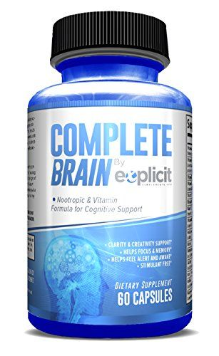 Brain Supplement Nootropic Completebrain Improves Memory Mood Focus Clarity Creativity By Explicit Supplements Rating 4 7 Out Of 5 Stars