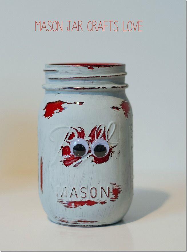 Zombie Mason Jars Halloween Mason Jars Mason Jar Crafts Jar