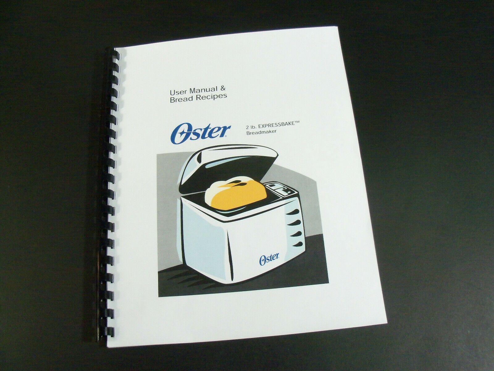 Oster Bread Machine Manual 5811 5840 5858 5821 5838