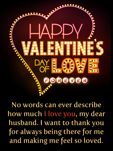 I Feel So Loved Happy Valentine S Day Card For Husband Birthday Greeting Cards By Davia Happy Valentine Birthday Greeting Cards Message Bible