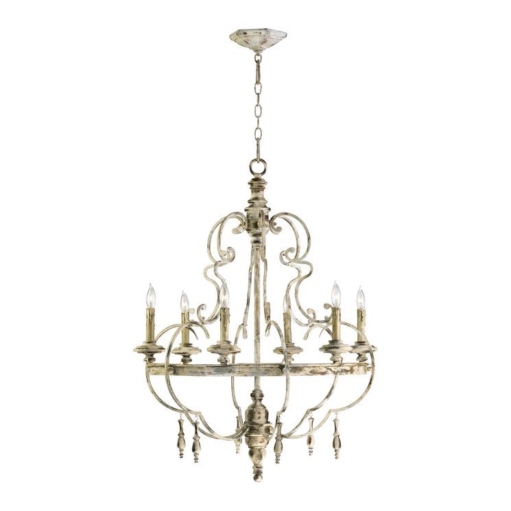 6 Light Candle Style Empire Chandelier French Country Lighting Candle Style Chandelier French Country Chandelier