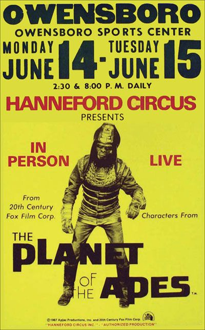 Uk 1970s Planet Of The Apes Live Show Planet Of The Apes Apes 20th Century Fox