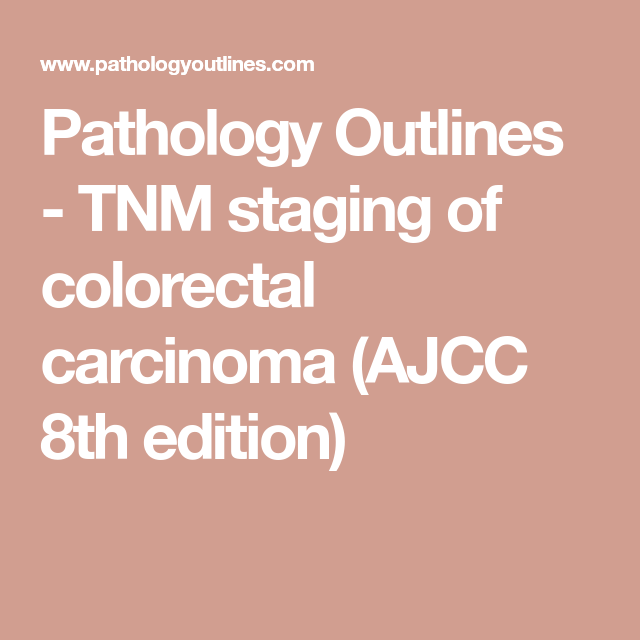 Pin On Cance Colon Staging