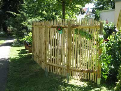 Staketenzaun Sichtschutz Außenansicht Garten Pinterest