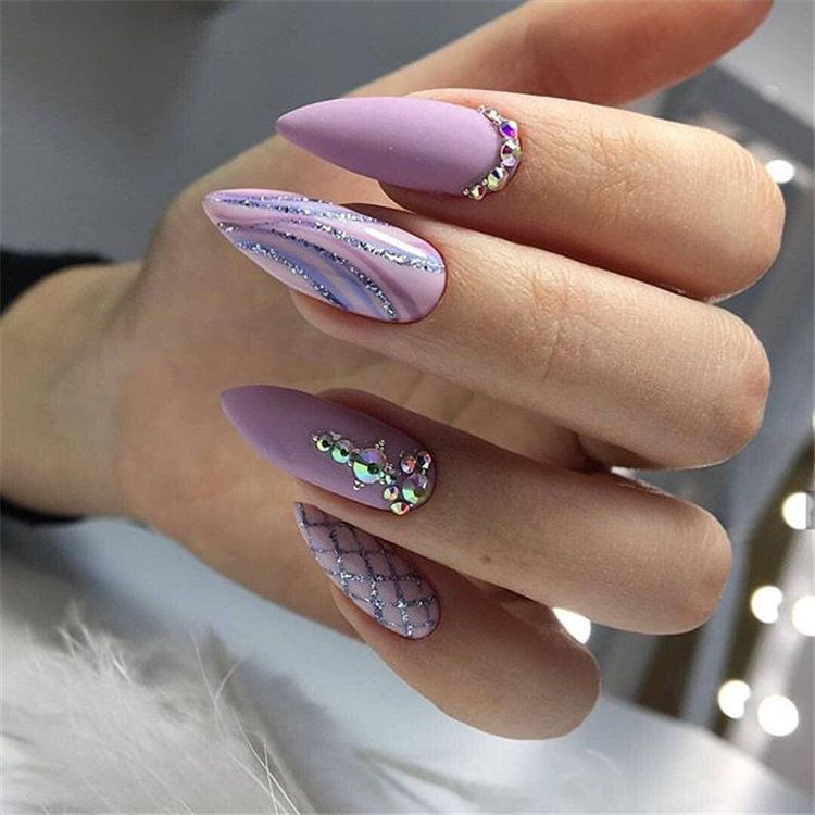 2019 2020 Most Popular Color Mixing Nail Art Oval Nails Latest