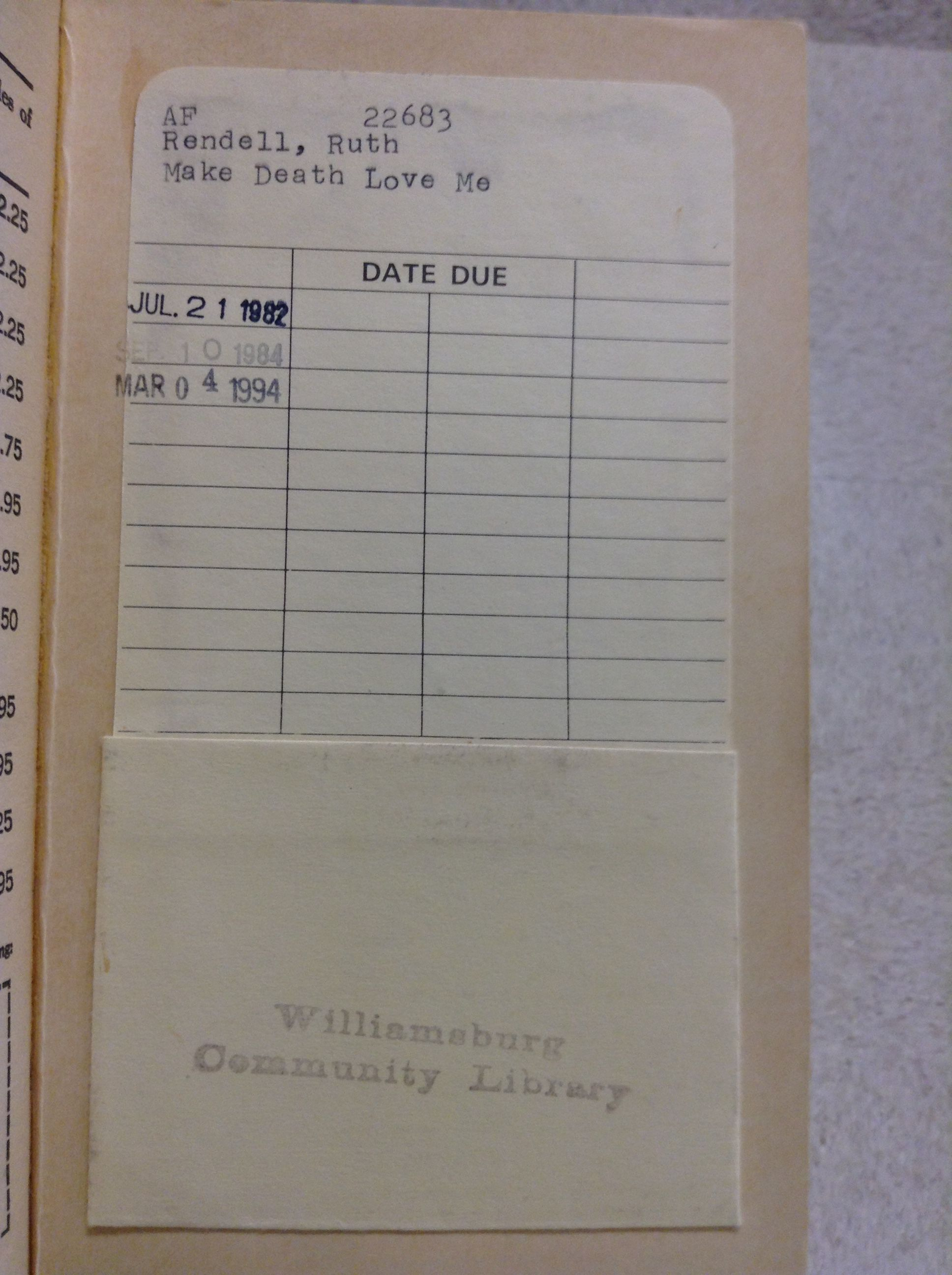 Pin by ryan blanck on library card pockets from exlibrary books