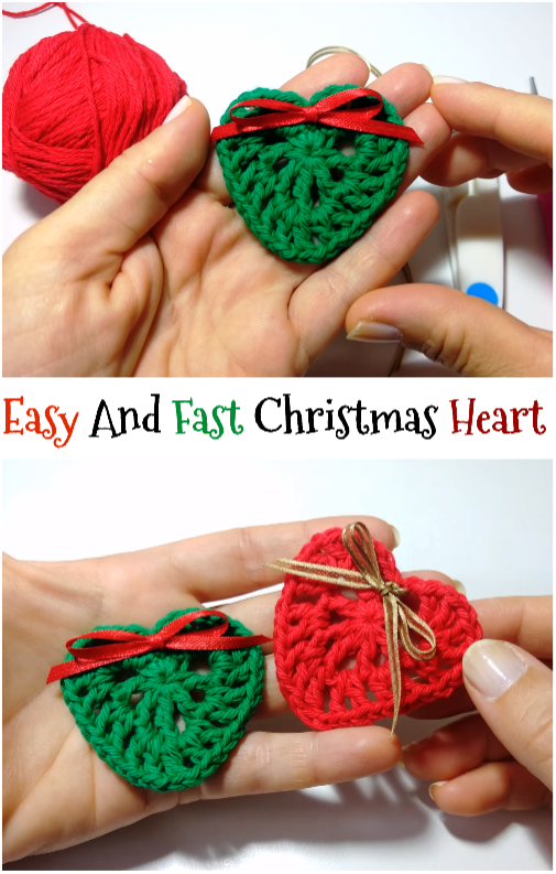 Christmas Heart | Crochet | Pinterest | Navidad, Papa noel y Tejido