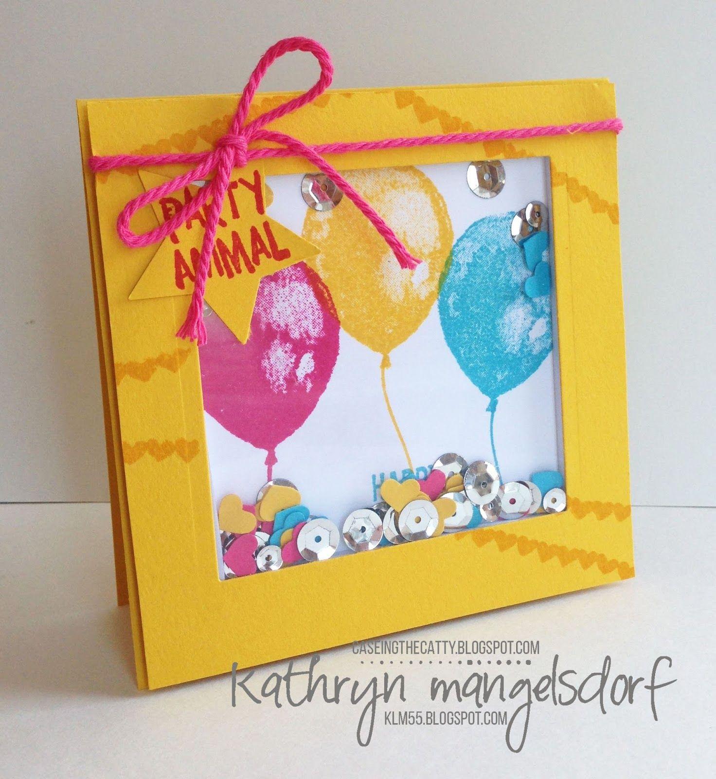 Stampin Up Balloon Builders Shaker Card Birthday Created By Kathryn Mangelsdorf