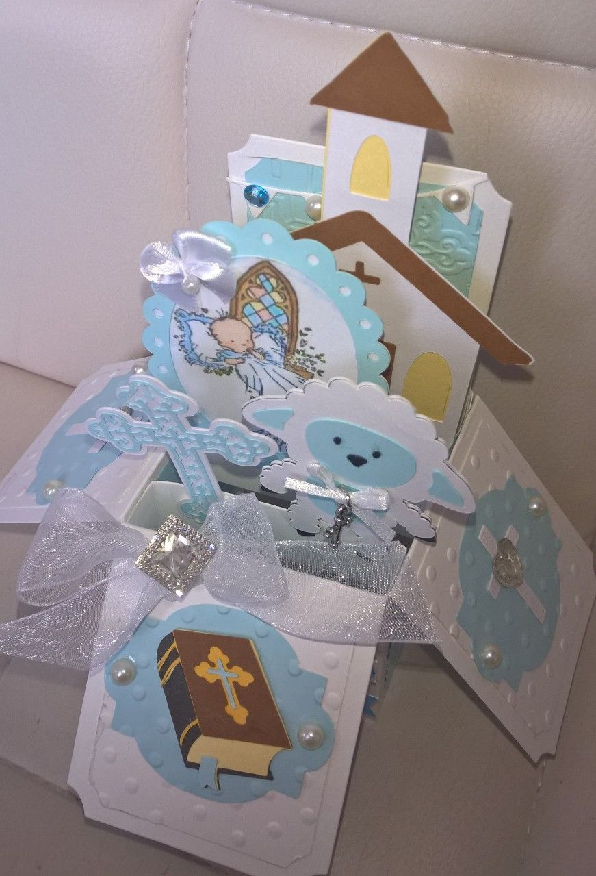 Cricut christeningbaptism box card christening cards