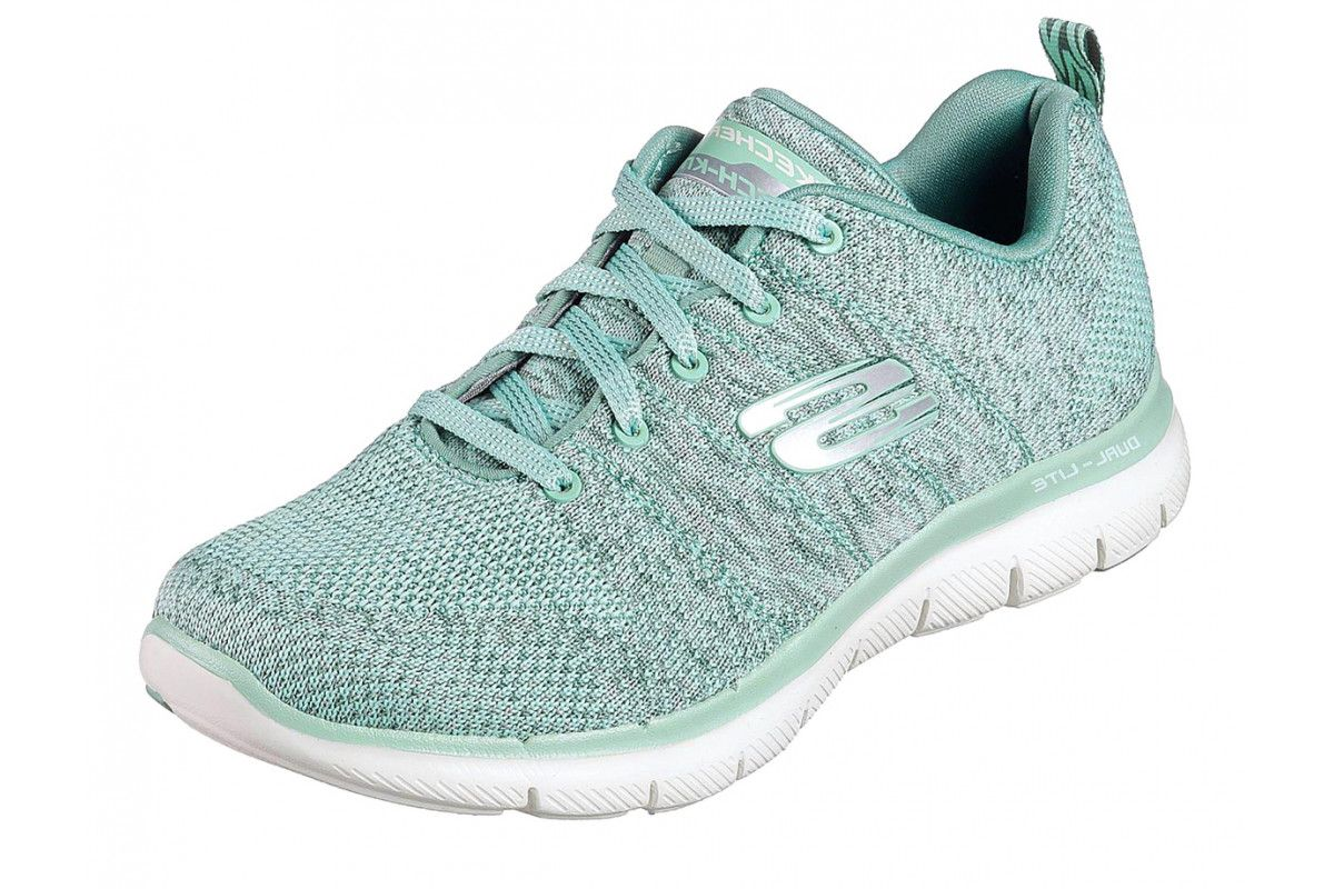 Skechers Flex Appeal 2.0 High Energy Sage Green Memory Foam
