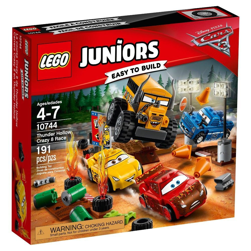 Cars 3 Jackson Storm Jouet Lego Juniors Disney Pixar Cars 3 Thunder Hollow Crazy 8 Race