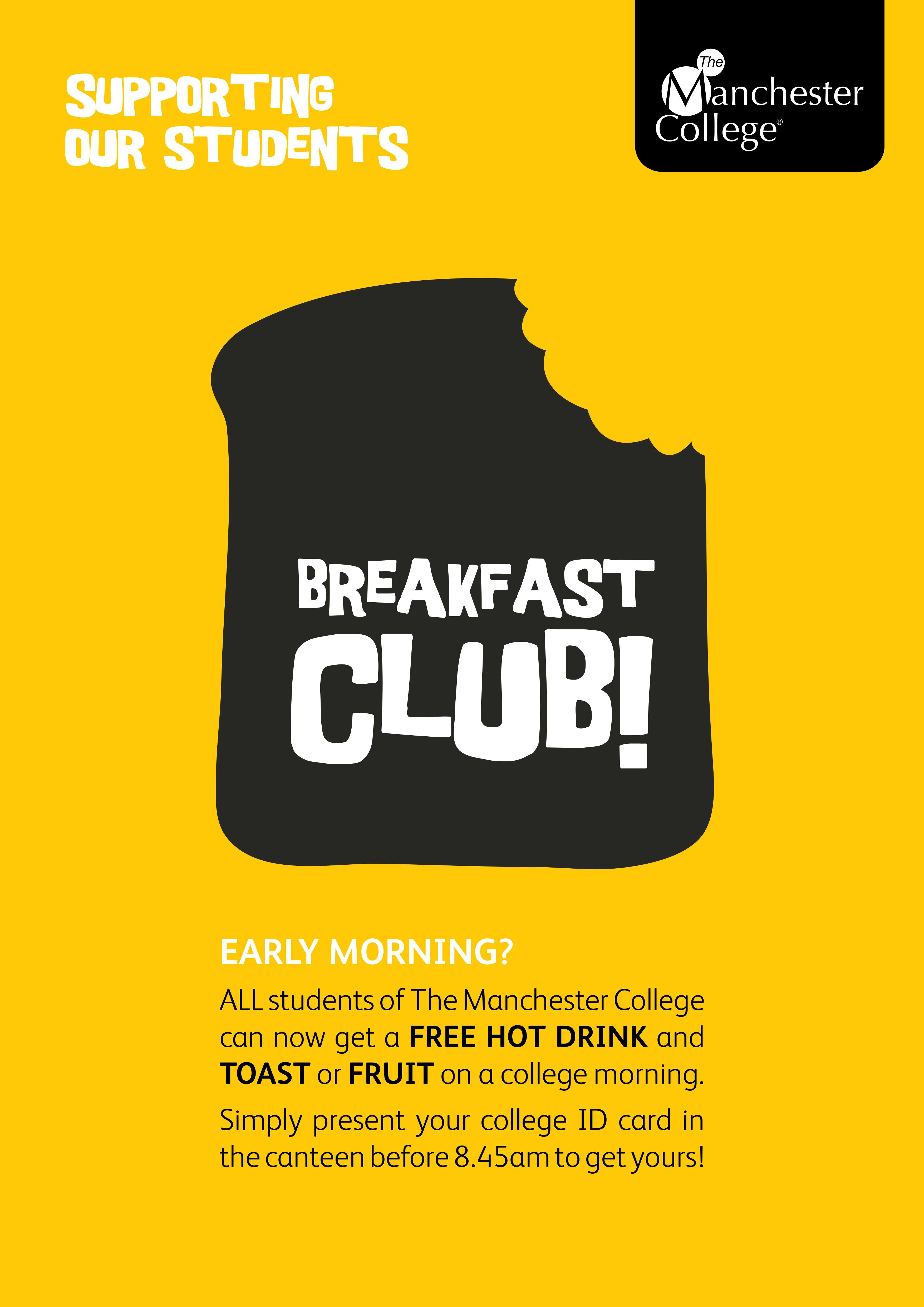 Poster design for students - Breakfast Club Poster Part Of A Suite Of Posters For Student Support Created By