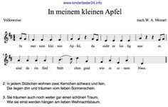 Texte Kinderlieder Herbstlied Apfel Lieder Sheet Music Music