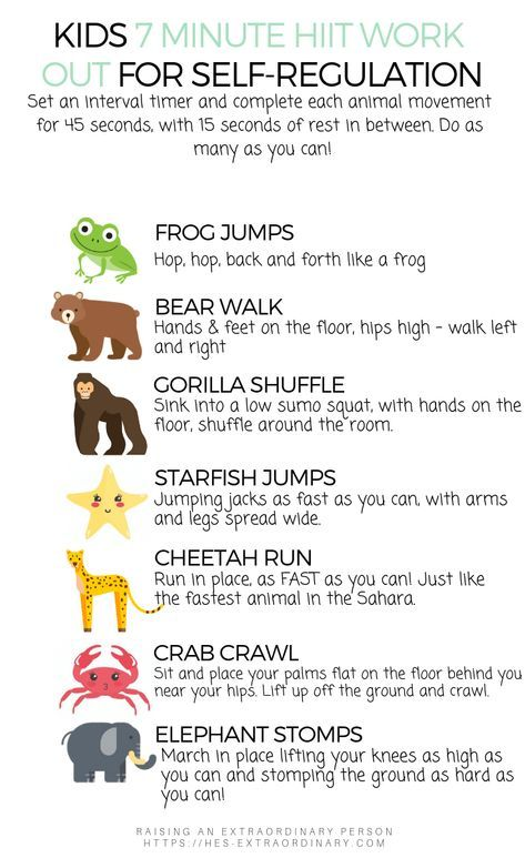 HIIT for Kids - Improve Emotional Regulation In Just 7 Minutes Per Day