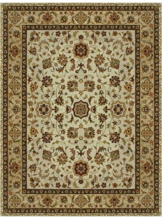 This Yorkshire Ivory Light Gold Collection rug (YK-02) is manufactured by Loloi.