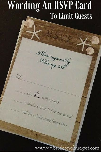 Wording An Rsvp Card To Limit Guests Rsvp Wedding Cards Wording Rsvp Wedding Cards Rsvp Card
