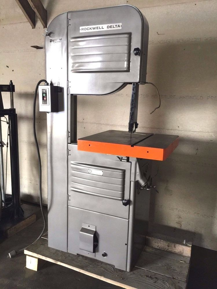 Delta Rockwell 20 Variable Speed Vertical Bandsaw No 28 365 Great Shape Carpinteria