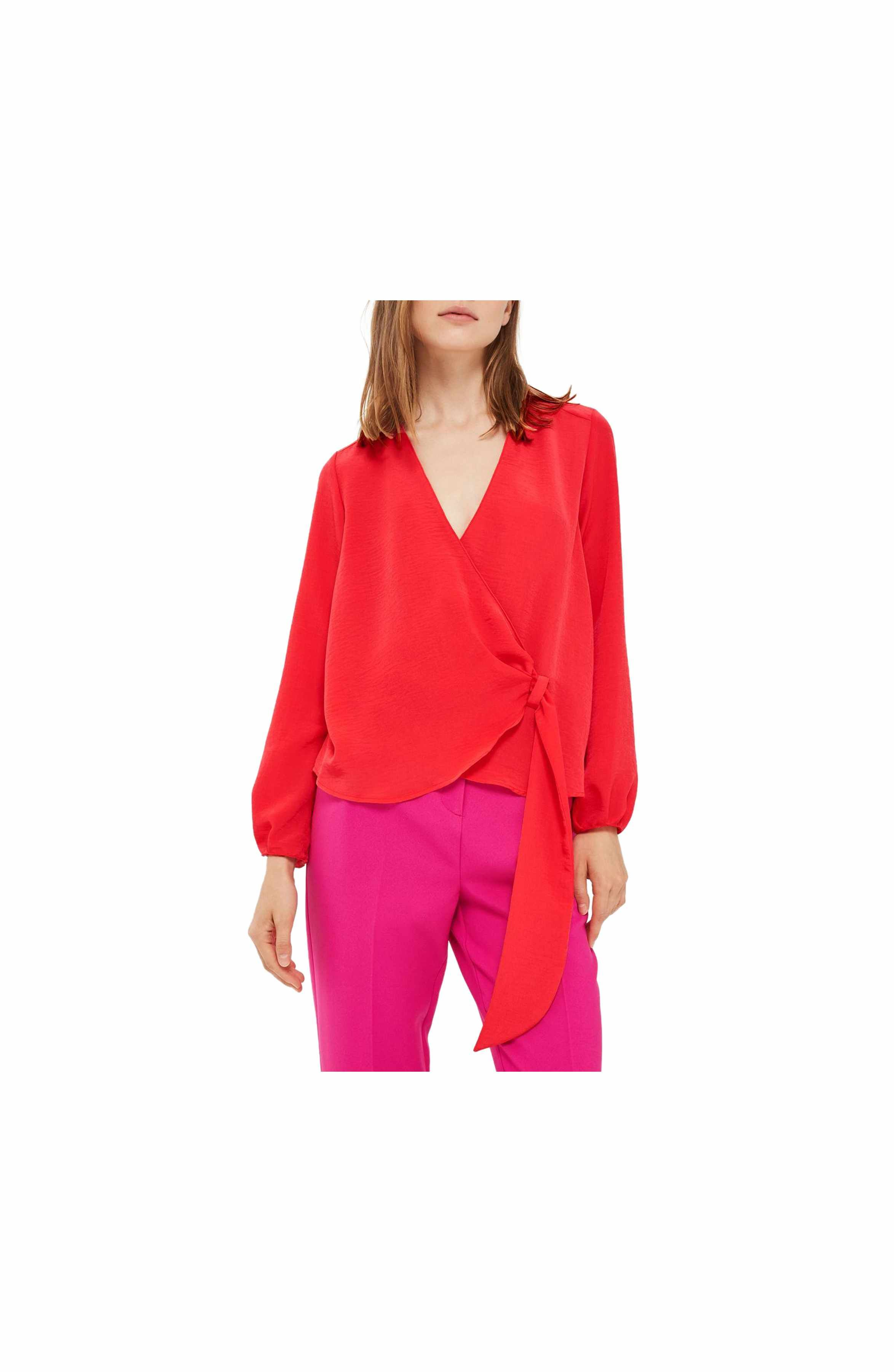 a882b15f4bfc2 Main Image - Topshop Wrap Tuck Blouse