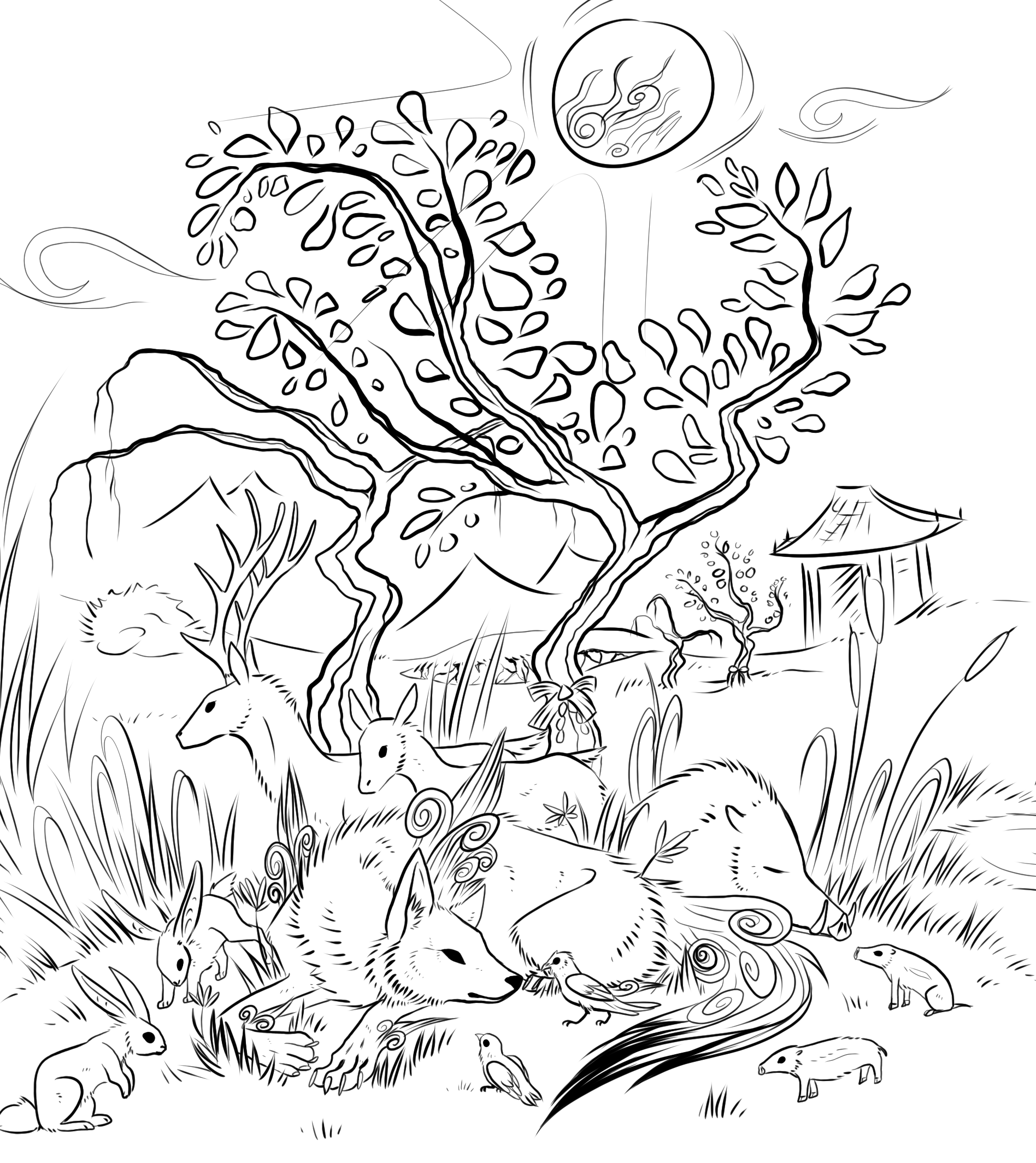 free_okami_scene_lineart_by_darkside_cookie-d6fo72l.png (1896×2128)