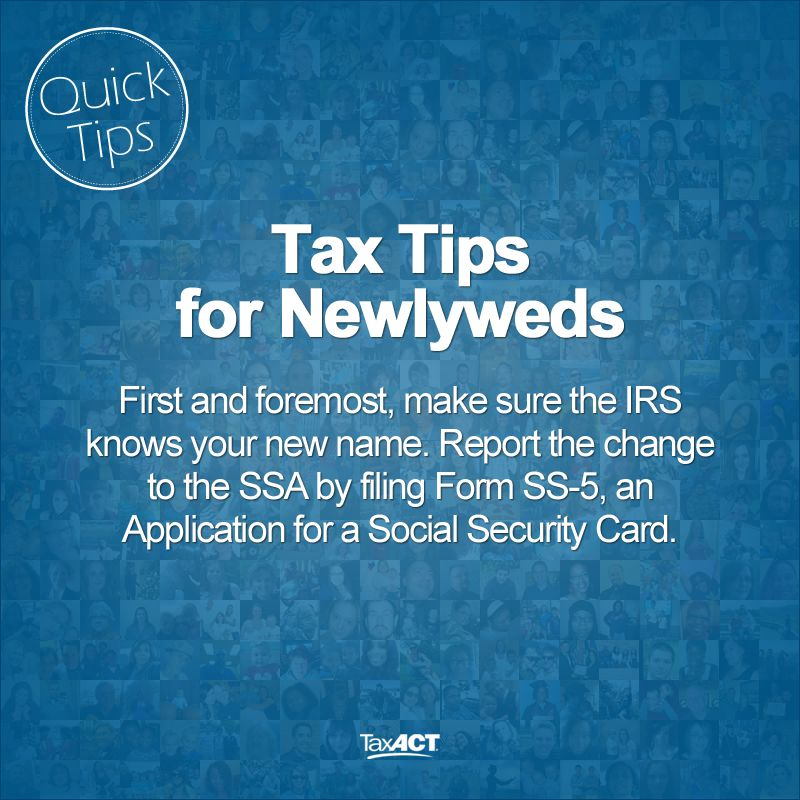 Tax Tips For Newlyweds Tips Newlyweds  Tax Tips  Resources