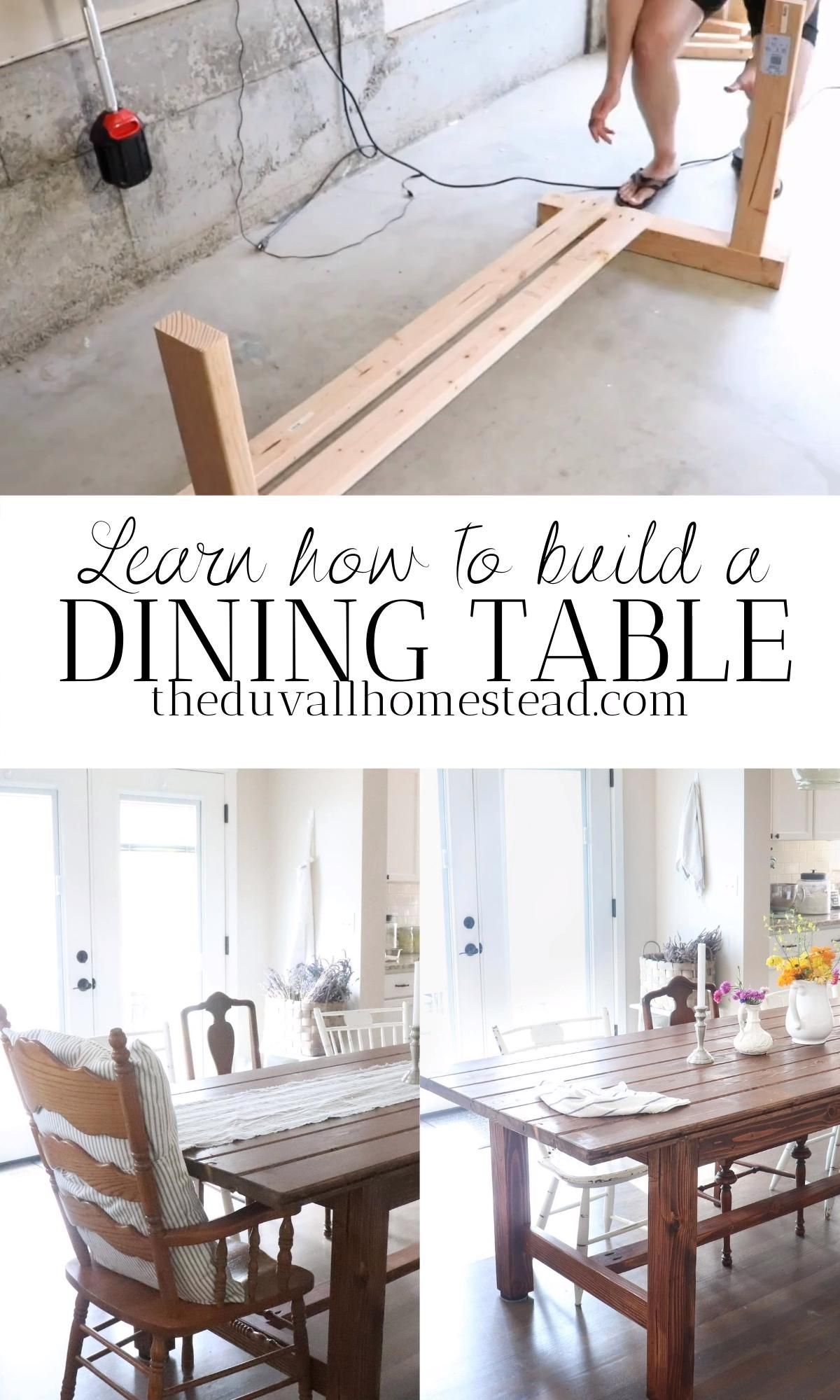 HOW TO BUILD A DINING TABLE for beginners | farmhouse style DIY full tutorial & plans -   19 farmhouse decorations for kitchen table ideas