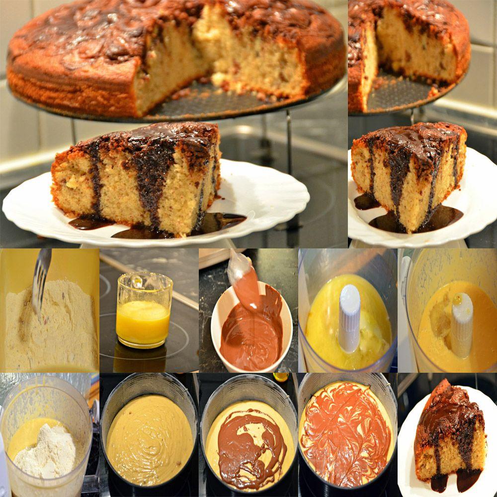 کیک شکلاتی با موز گردو فندق طرز تهیه مواد لازم آرد تخم مرغ شکر موز گردو فندق روغن کره شکلات کاکائویی آبلیمو وانیل بکینگ پودر سس ش Desserts Food Breakfast