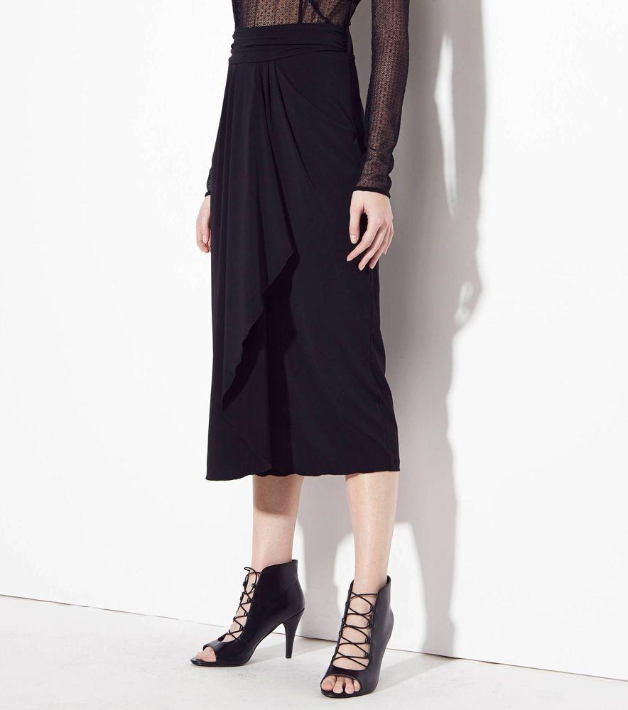 dacbb7f257 Falda larga drapeada 1060 CLOTHES mujer Mujer ZJ Venca ...