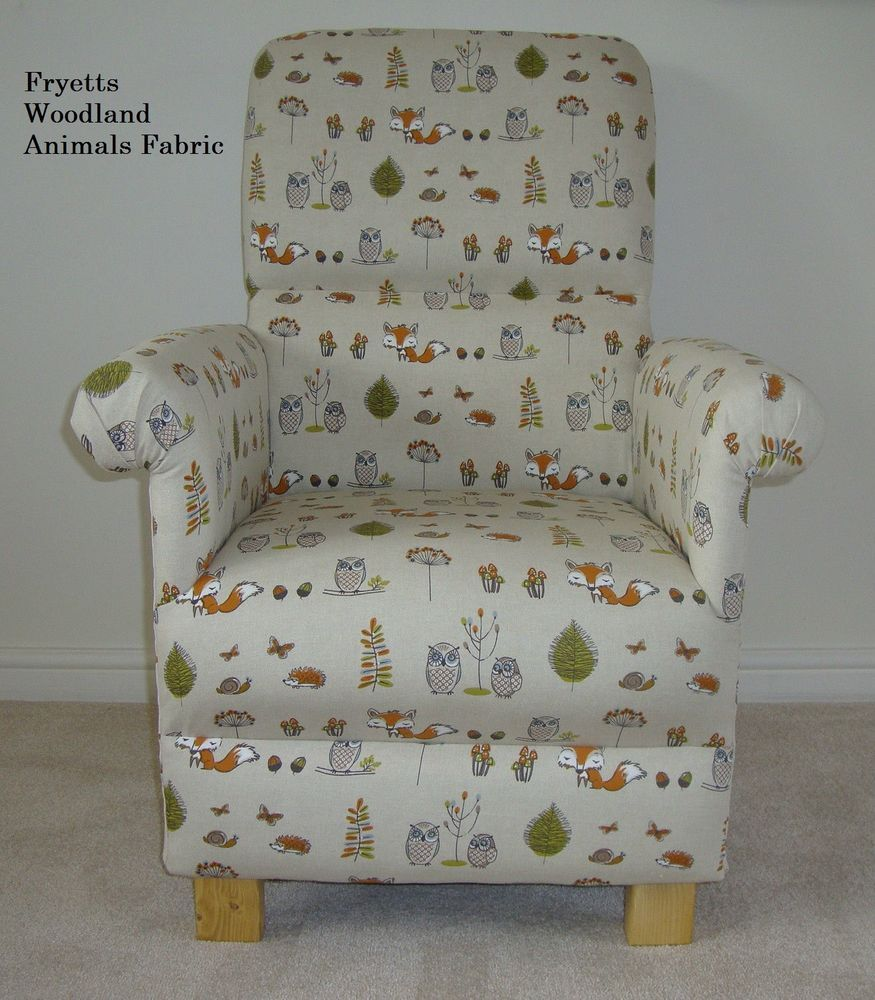 Fryetts Woodland Animals Fox Fabric Chair Armchair Nursery