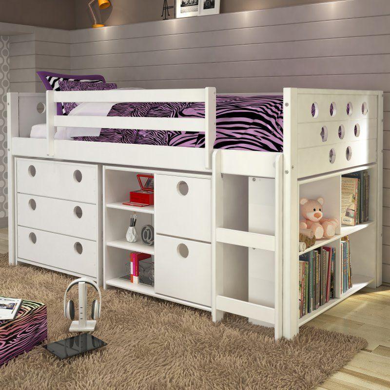 Donco Circles Low Study Loft Bed - 780-T Детская Pinterest