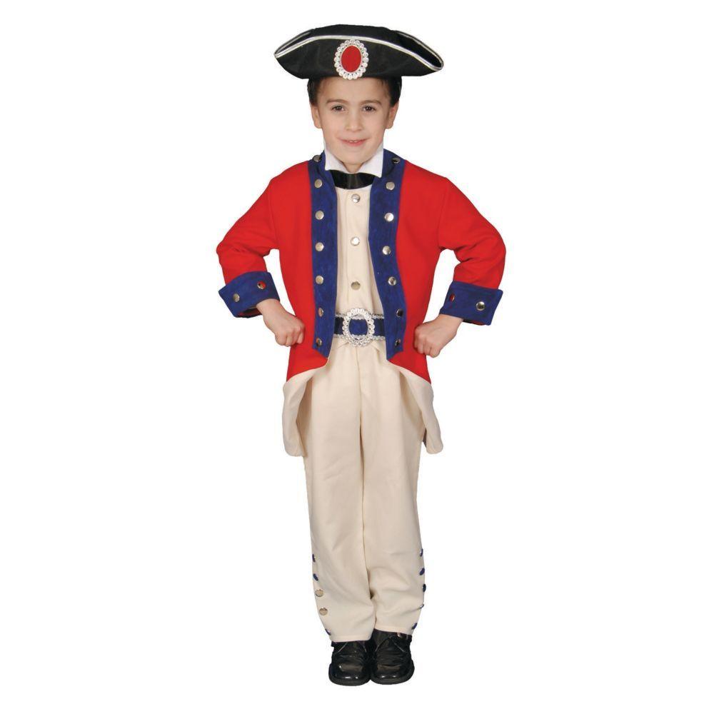 colonial soldier boys halloween costume medium - Soldier Girl Halloween Costume