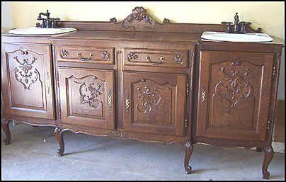 Antique vanity antique bathroom vanity double sink - Antique bathroom vanities for sale ...