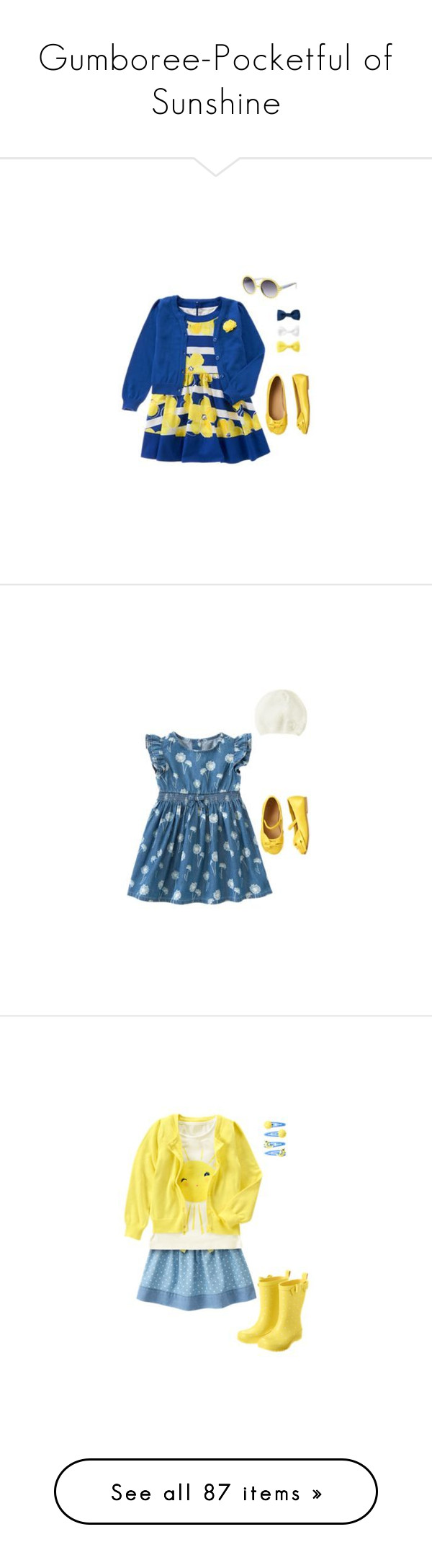 """Gumboree-Pocketful of Sunshine"" by kassijade ❤ liked on Polyvore featuring hair, baby, kids, children, dresses, pocketful of sunshine, kids clothes and little girl"
