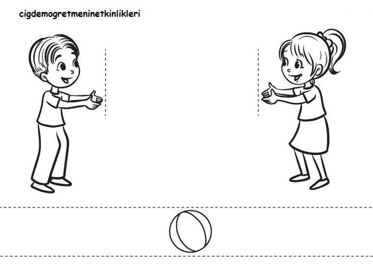 Top Oynayan çocuklar Okul öncesi Etkinlik Kaynağınız Okul öncesi
